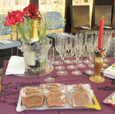 クリスマスパティーテーブルコーディネート