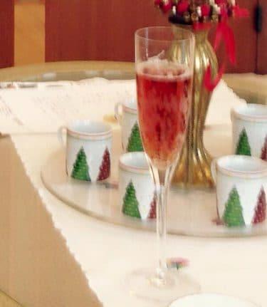 クリスマス模様デミタスカップ