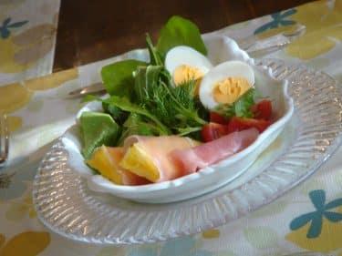 洋食盛り付けサラダ